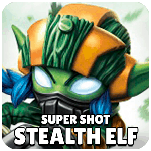 Super Shot Stealth Elf Skylander Icon Skylanders Ring of Heroes