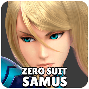 Zero Suit Samus Character Icon Super Smash Bros Ultimate