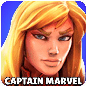 Captain Marvel Character Icon Marvel Strike Force
